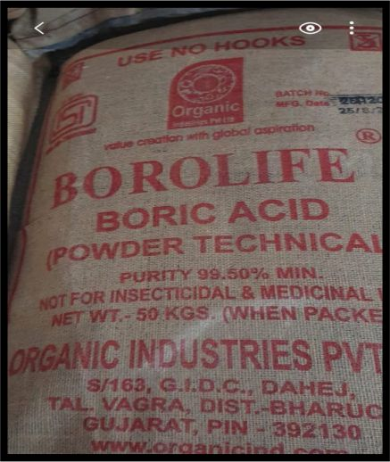 Boric Acid Chemical Manufacturers In Patiala